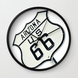 Highway route 66 road sign, Arizona. Wall Clock