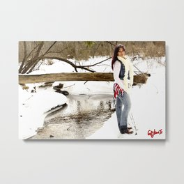 Winter with Country Recording Artist **NIKKI BRIAR** Metal Print