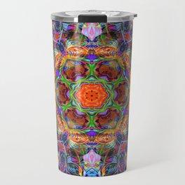 Mandala with colorful collage Travel Mug