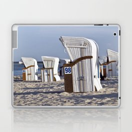 White Beach Chairs Laptop & iPad Skin