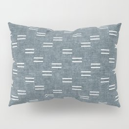 double dash on stone blue Pillow Sham