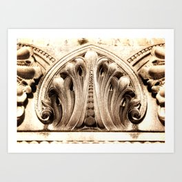 Stone Carving Art Print