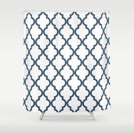 Dusky Blue Moroccan Pattern Shower Curtain
