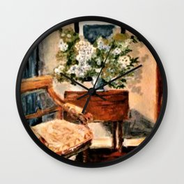 Interior with Large Bouquet Wall Clock