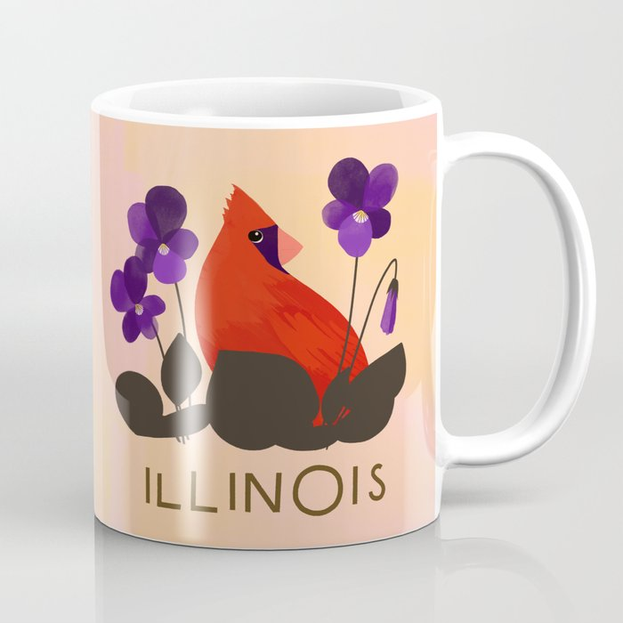 illinois state bird and flower coffee mug by sferone society6