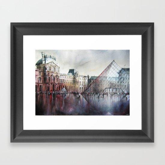 Le Louvre - Paris - Watercolor Framed Art Print