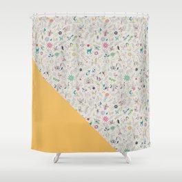 Pez Otomi yellow by Ana Kane Shower Curtain