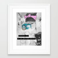 blair waldorf Framed Art Prints featuring Blair by ldc designs