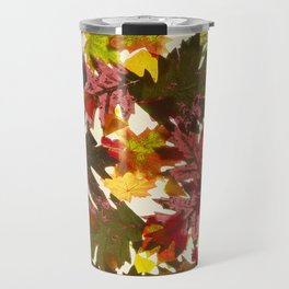 Autumn Leaves Pattern Travel Mug