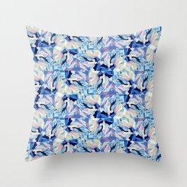 Bibbity Bobbity Blue (Abstract Painting) Throw Pillow