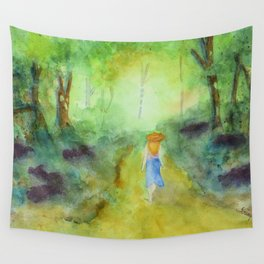 Down the Path Wall Tapestry