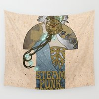 spain Wall Tapestries featuring Steampunk Spain by DV arttitude