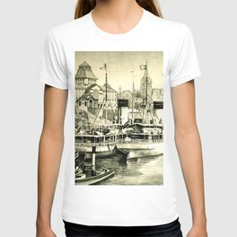 THE HARBOUR IN GREYS T-shirt