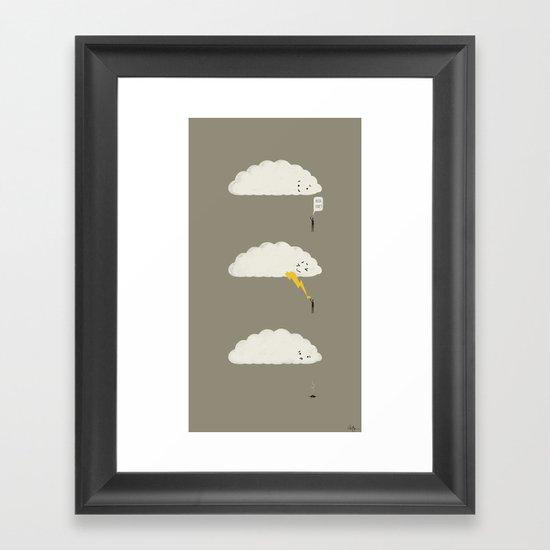 Cloud High Five Framed Art Print