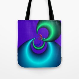violet and turquoise -3- Tote Bag
