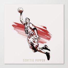 Scottie Pippen Canvas Print