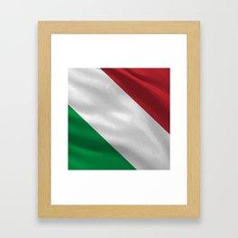 Italy acock flag Framed Art Print