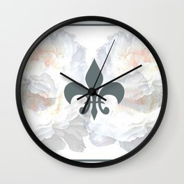 Floral And Structure Wall Clock