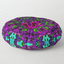 mandala universe and all will be in bloom again Floor Pillow