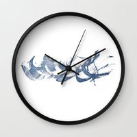 calligraphy Wall Clocks featuring Calligraphy by MargherittaVi