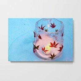Ice Vase, Hokkaido, Japan Metal Print
