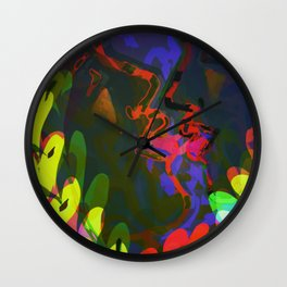 Behind the Leaves / KISS Wall Clock