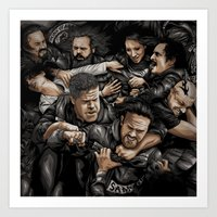 sons of anarchy Art Prints featuring Sons of Anarchy-War by Denis O'Sullivan