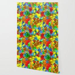 Multicolored splashes Wallpaper