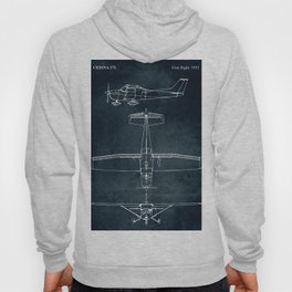 CESSNA 172 - First flight 1955 Hoody