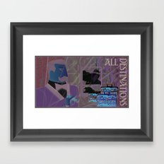 All Destinations - Deco Art Framed Art Print