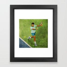 Roger Federer Tennis Backhand Framed Art Print