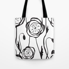 whimsical poppies Tote Bag