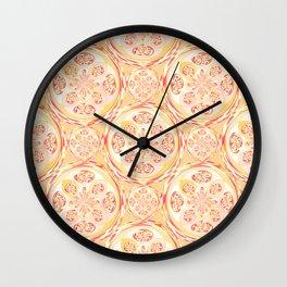Geometric pizza pattern Wall Clock