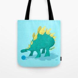Stegosaurus and his Ball Tote Bag