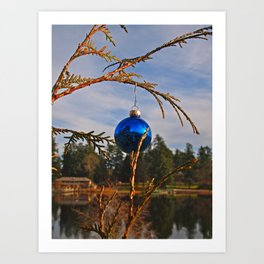 Lakeside Yuletide Art Print