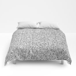 Beautiful Silver glitter sparkles Comforters