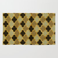 moroccan Area & Throw Rugs featuring Moroccan  by Zetanueta