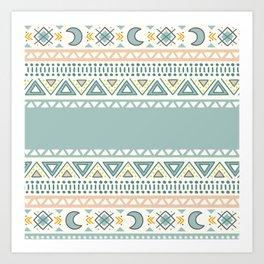 Colorful Geometric Boho Style 1 Art Print