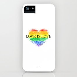 Love Is Love Rainbow Pride Heart 7 Minimalist Art iPhone Case