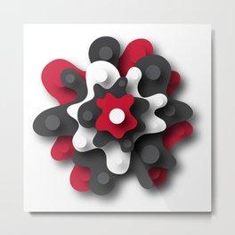 Biomorphic Flower Metal Print