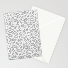 Floral Abstract Damasks G17 Stationery Cards