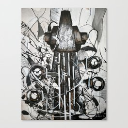 Upright bass Canvas Print