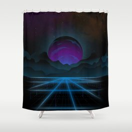 Outrun-2 Shower Curtain