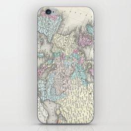 Vintage Map of Europe (1855) iPhone Skin