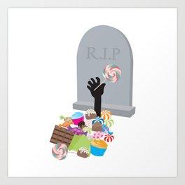 Death by Candy Halloween Design Art Print