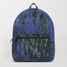 Water Lilies and Weeping Willow Branches by Claude Monet Backpack