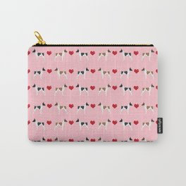 Rat Terrier love hearts dog breed pet art dog pattern gifts unique pure breed Carry-All Pouch