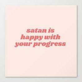 satan is happy Canvas Print