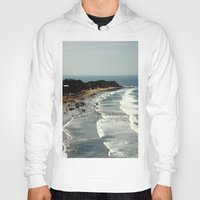 rowing Hoodies featuring Torquay Heads - Rowing Regatta - Australia by Chris' Landscape Images & Designs