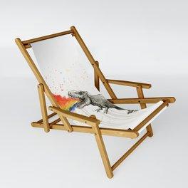 T-Rex Rainbow Puke Sling Chair